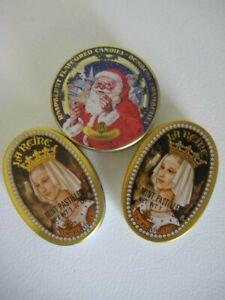 La Vosgienne Candies Britain La Reine Mint 1.75 oz France Tins Empty Set of 3