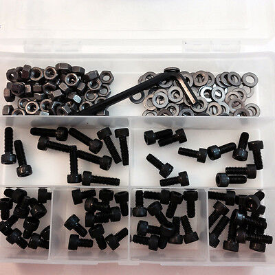 361 PIECE, HIGH TENSILE M5 SOCKET CAPS KIT, SELF COLOUR FULL NUTS & WASHERS HT04