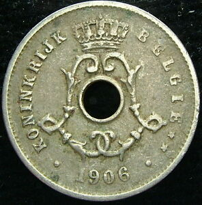 1906 Belgique Belgique Belgie 5 Cents Centimes Er7bz0ls-08005535-178084269