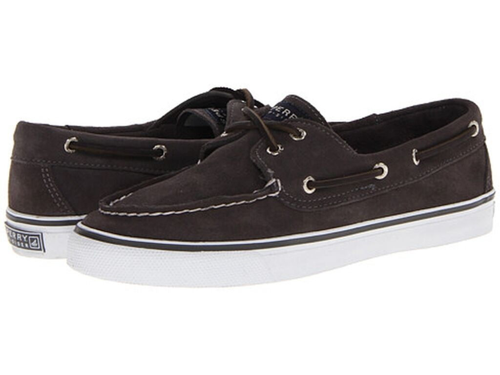 8.5M SPERRY TOP SIDER BAHAMA GRAPHITE SUEDE WOMENS CHARCOAL SNEAKER BOAT SHOES