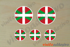 PEGATINA STICKER VINILO Bandera lente Ikurriña flag autocollant aufkleber