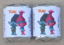 30 TROLLS MOVIE BIRTHDAY PARTY PERSONALIZED NUGGET CANDY WRAPPER LABELS FAVORS