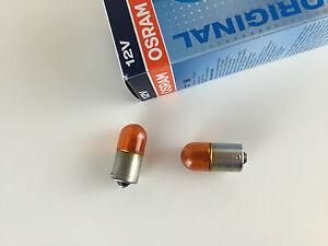 2-Stueck-Osram-Ry10w-Lampen-12V-10W-BAU15s-5009-ECE-R37-orange-R10W