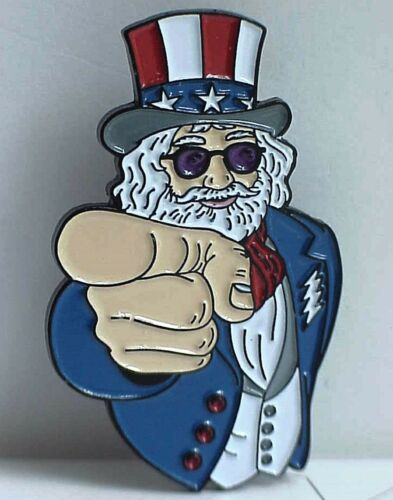 10 JULY 2015 CHICAGO 50th ANNIVERSARY JERRY I WANT YOU GRATEFUL DEAD RELIX PIN