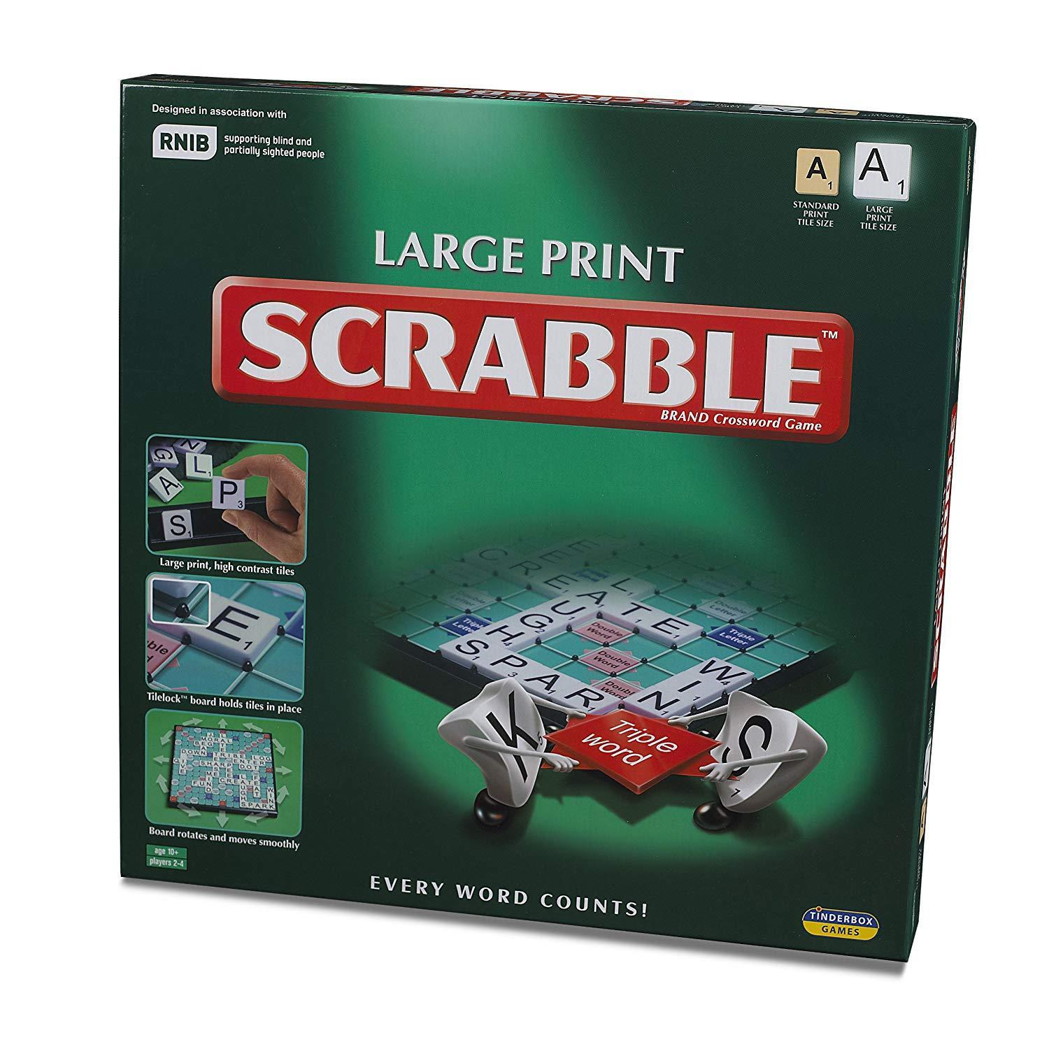 NEW Tinderbox Games LTL10108 Scrabble Large Print Every Word Coun CHRISTMAS GIFT
