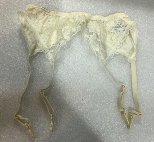 Vintage 70/'s 80/'s Berlei gypsy white garter belt new burlesque