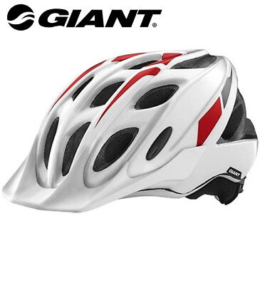 Giant Exempt Youth Bicycle Helmet Size 50-57cm White//Red