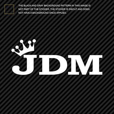 JDM King Sticker Die Cut Decal Self Adhesive Vinyl crown type b 2x