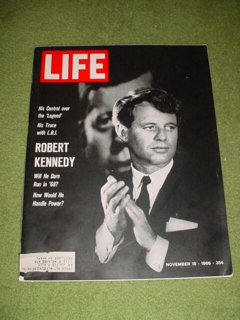 LIFE MAGAZINE NOVEMBER 18 1966 ROBERT KENNEDY LBJ LEUKEMIA