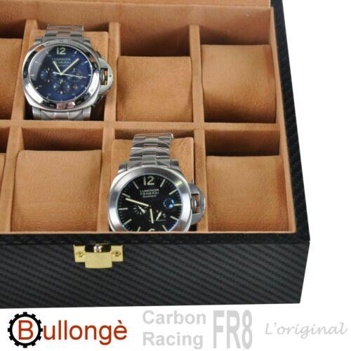 Uhrenbox mit Fenster BULLONGÈ FR8 CARBON