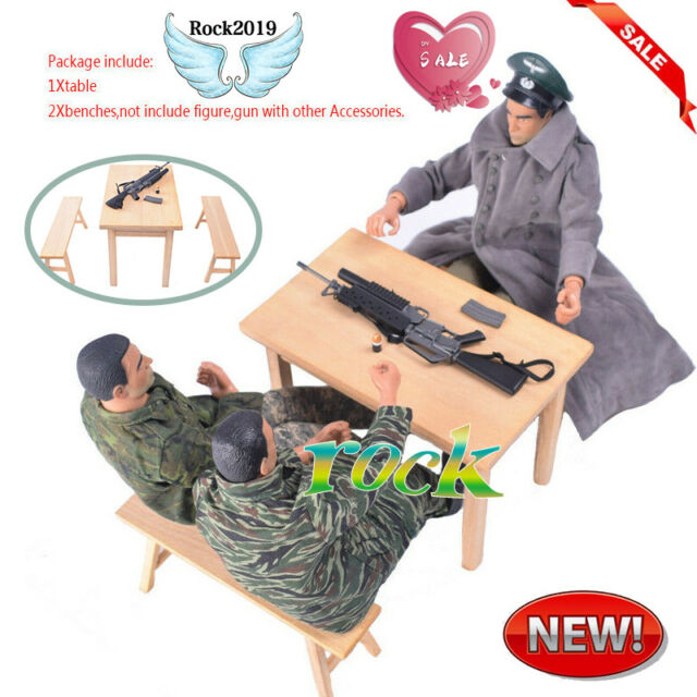 """PLAY TOY 1//6 Scale Bench Model For 12/"""" Action Figure"""