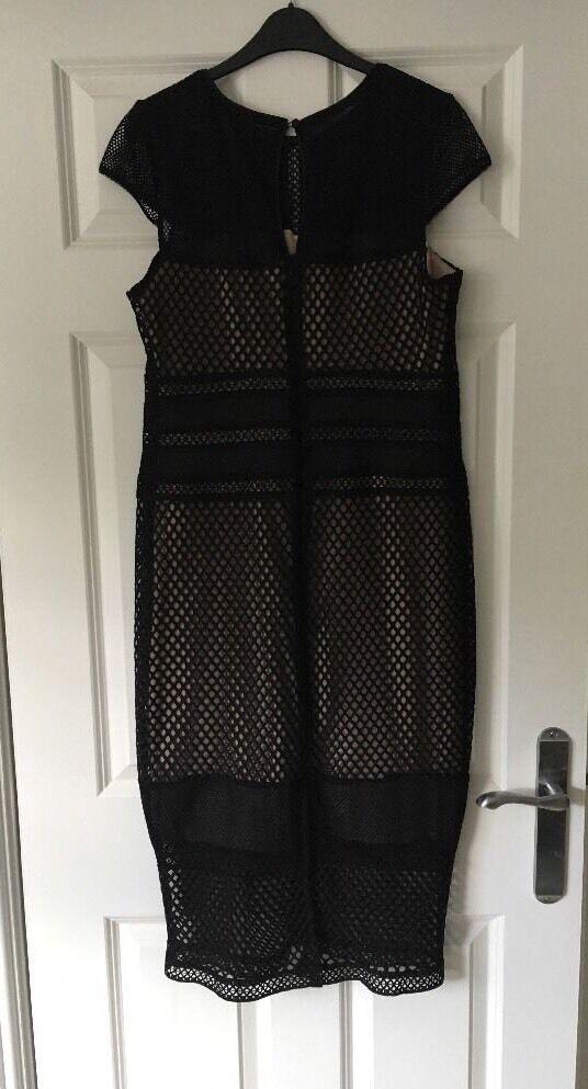 Debenhams Debut Nero Cut Cut Cut out Midi Dress-Taglia 14-Bnwt c61b80