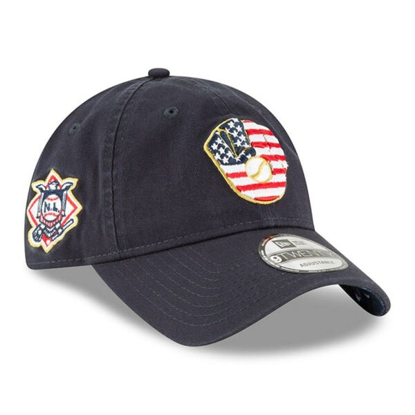 3a2f81a86c1 Milwaukee Brewers Era 2018 July 4th Stars and Stripes 9twenty Adjustable Hat  for sale online