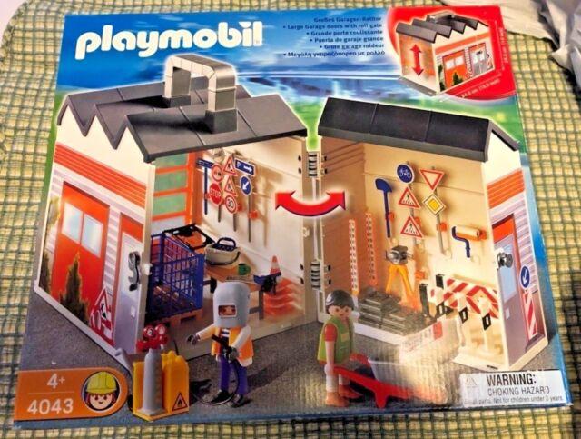 Playmobil 4043 Take Along Construction Garage 3 Boys For Sale Online
