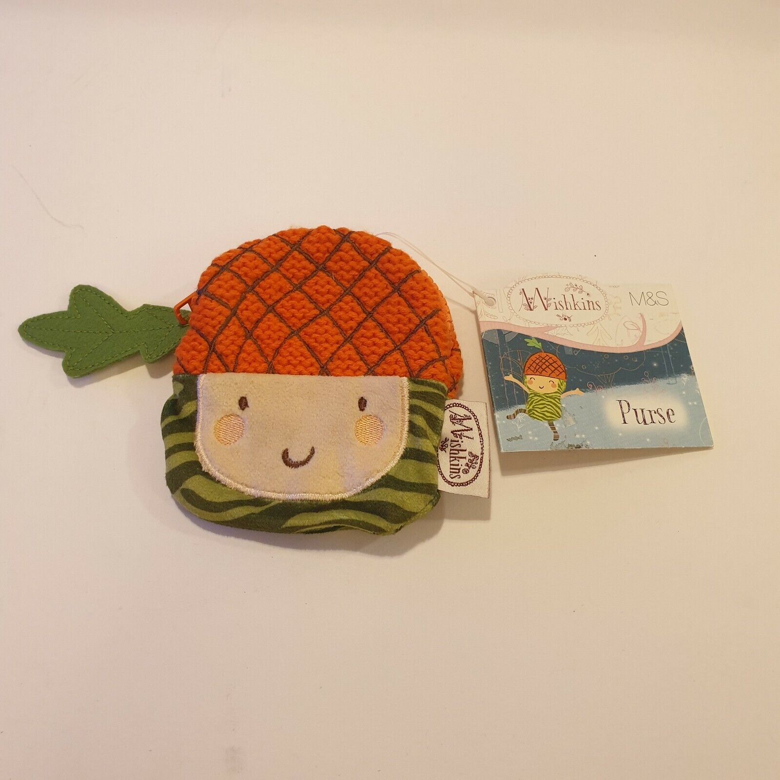 Marks & Spencer Wishkins Coin Purse Acorn Zip New With Tags Christmas