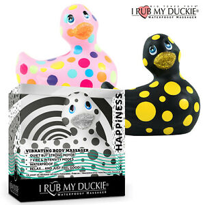 I Rub My Vibrating Waterproof Duckie 2.0 Pua Pois Duck Happiness Papera Vibrante