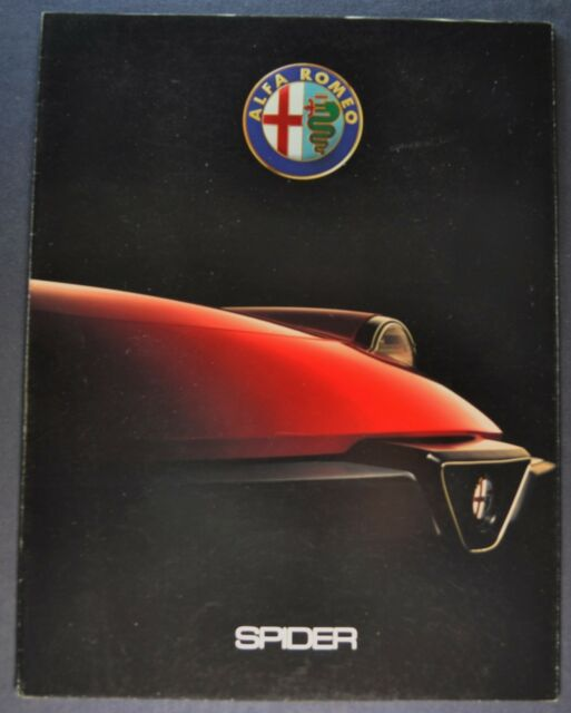 1990 Alfa Romeo Spider Sales Brochure Folder Excellent