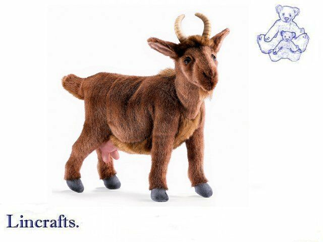 Hansa Brown Goat 4148 Plush Soft Toy Sold by Lincrafts Established 1993