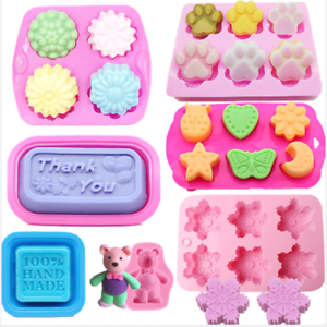 Silicone-Soap-Mold-Ice-Cube-Candy-Chocolate-Cake-Mould-Baking-Pan-Tray-Tool