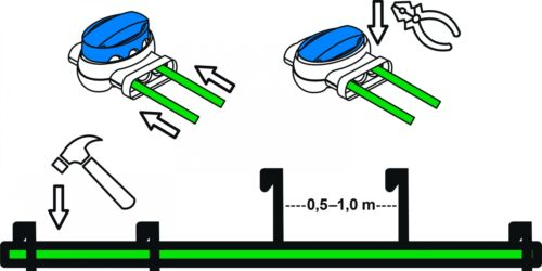 Installation Paket Herkules Wiper Ciiky Kabel Haken Verb Installations-Set M