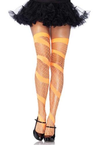 Swirl Diamond Net Thigh Highs Stockings Fancy Dress Costume Accessory 4 COLORS
