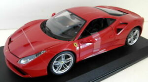 Burago-Diecast-Escala-1-18-18-16008-Ferrari-488-GTB-Rosso-Rojo