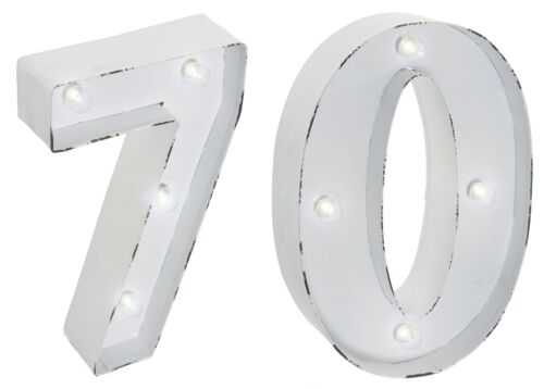Wall Mounted NEW 70th Birthday Party LED Light