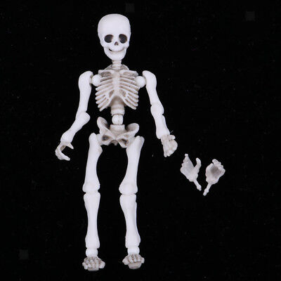Vintage Miniature 5.4cm Skeleton Doll Action Figures Playset Kid Pretend Toy