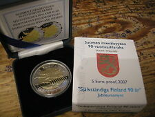 5 EUROMUNT FINLAND 2007 PROOF IN CASSETTE