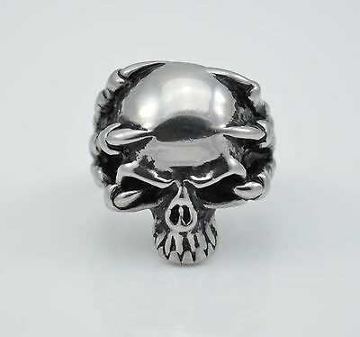 Skull ring stainless steel size 10 fast USA shipping
