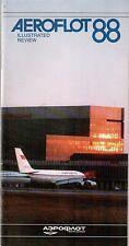AEROFLOT 88 ILLUSTRATED REVIEW IL62 IL86 TU 154 RUSSIA SOVIET