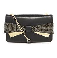 Gianni Bini Lucy Bow Cross-body Bag Purse Black $79