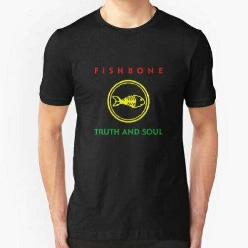 Fishbone Truth and Soul Logo Rock Band T-Shirt Funny Cotton Tee Gift Men