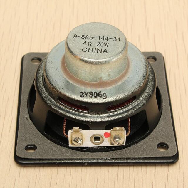 3'' Full-range Speaker Loudspeaker Neodymium Magnet Long Stroke 20W 6Ohms Black