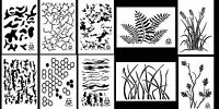 Camouflage Painting Stencils Duck Boat Camo Gun 10 Mil Duracoat 14 (10 Designs)