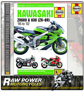 kawasaki zx6r g1 g2 1998 1999 haynes manual 3541 ebay rh ebay co uk 1999 zx6r manual pdf 2002 Zx6r