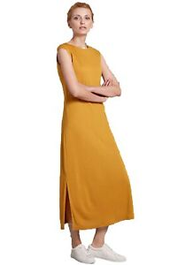 NEW-M-amp-S-Mustard-Yellow-Summer-Long-Maxi-Beach-Sun-Dress-Size-6-18