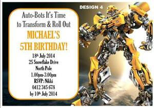 photograph about Transformer Birthday Invitations Printable Free titled Transformers Birthday Invites