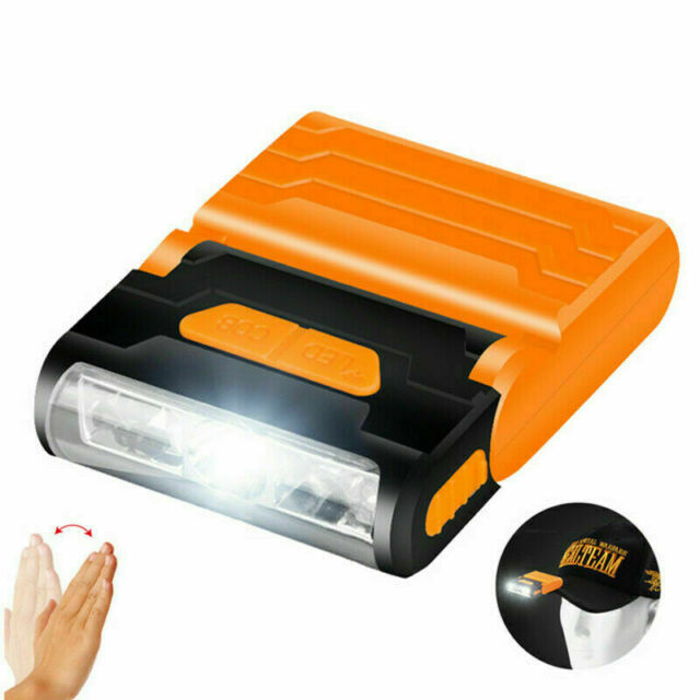 6 LED Rechargeable Cap  IR Sensor Headlamp Hat Clip Headlight Torch Head  Gift