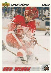 Sergei Fedorov 1991-92 Upper Deck #144 Detroit Red Wings Center - Like New