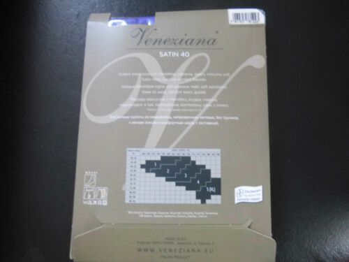 prugnia taille 44-46 NEUF//Neuf dans sa boîte Collant Veneziana satin Polyamide//élasthanne