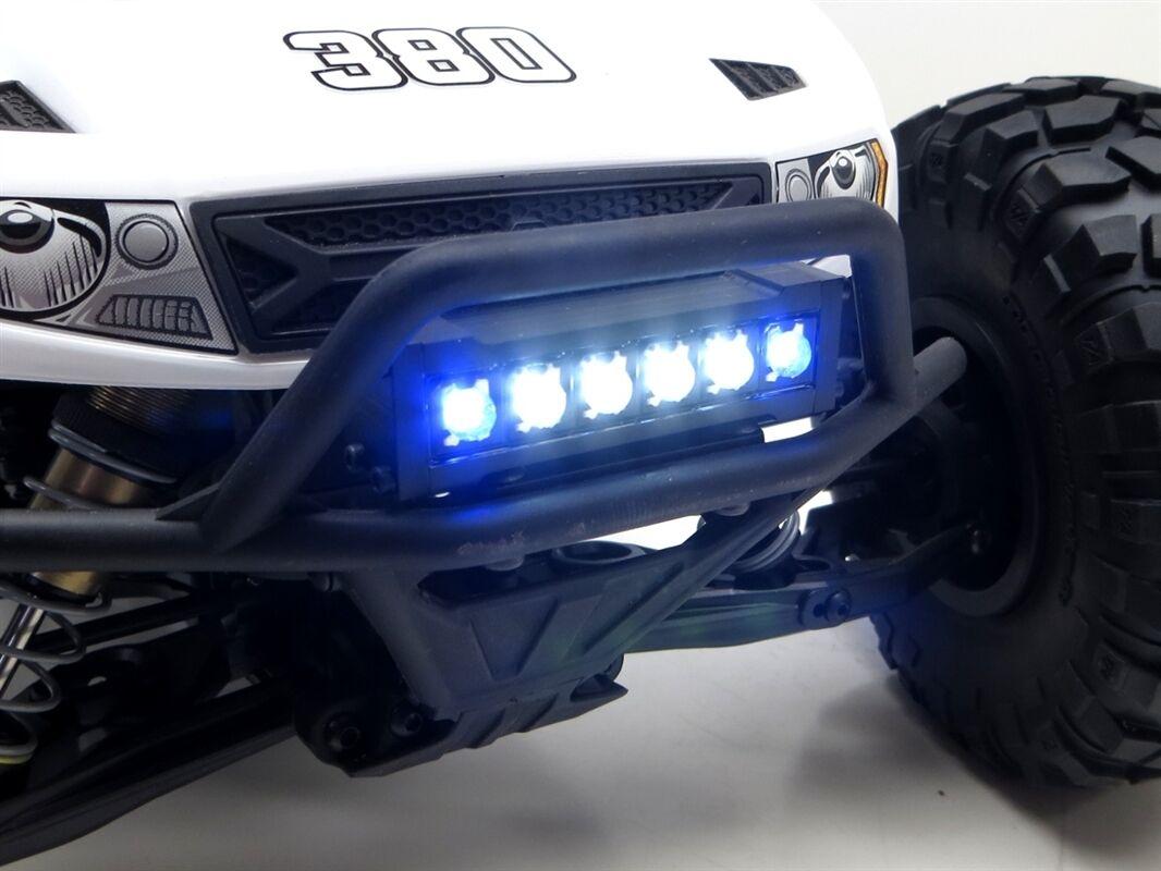 Gear Head RC Axial Yeti bianca and blu Six Shooter w Mounting Kit Combo GEA1084