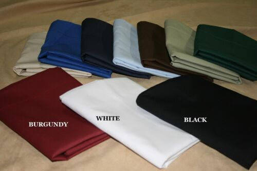 20x60 Body Pillowcase Poly Cotton Percale zipper or inside flap option 10 colors