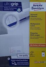 120 Stück 70 x 36 mm ZWECKFORM 3475 Tintenstrahl Ink-Jet Laser Kopier Etiketten