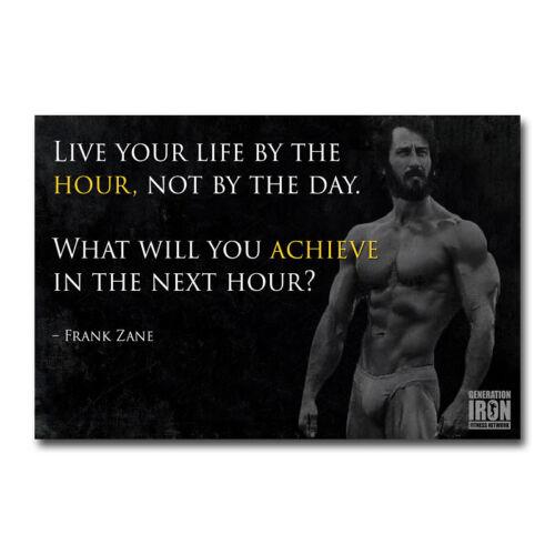 Frank Zane Bodybuilding Motivational Art Silk Canvas Poster 12x18 24x36 inch