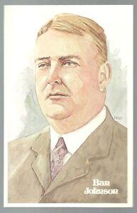 7-BAN-JOHNSON-Perez-Steele-Hall-of-Fame-Postcard