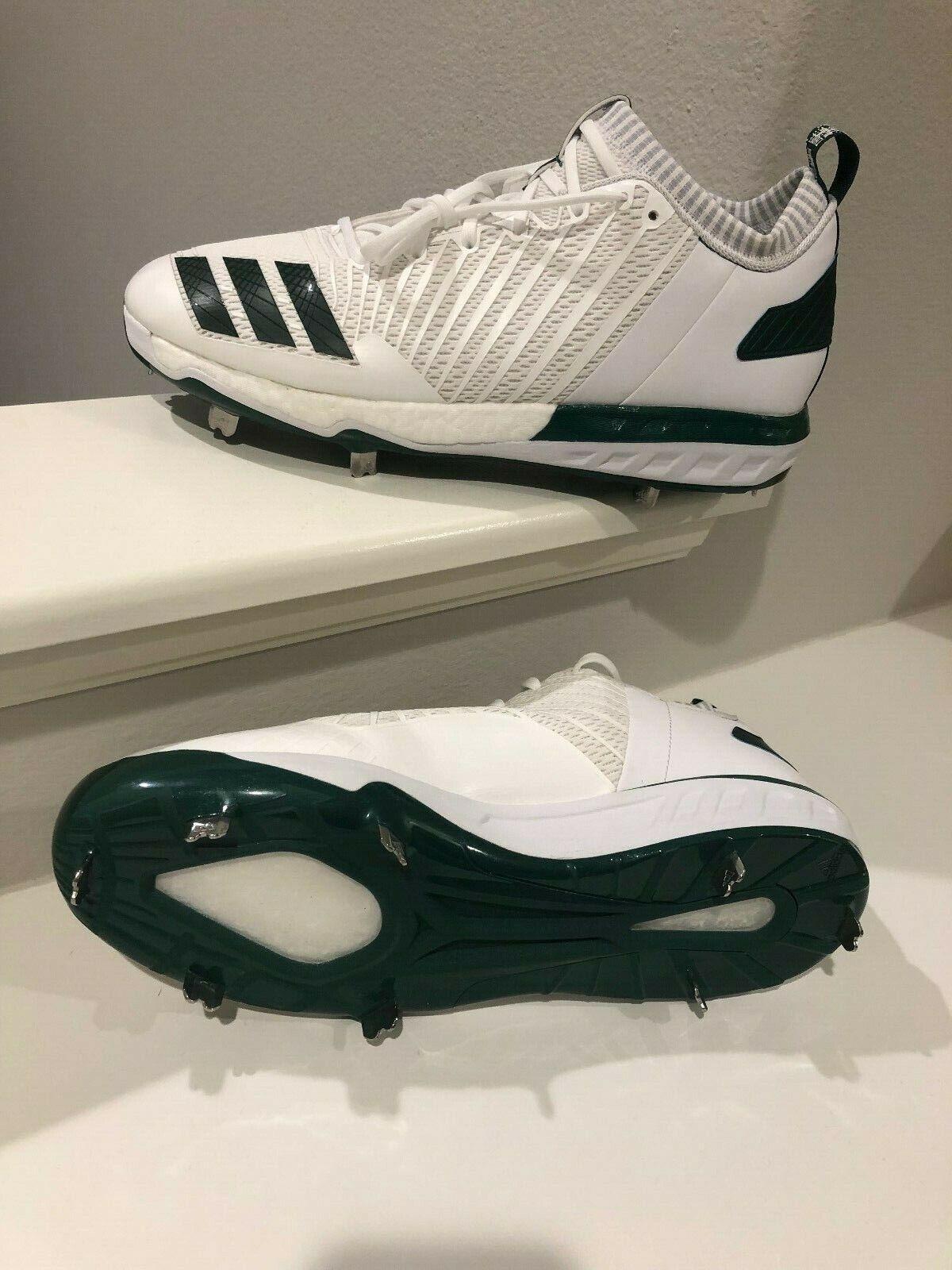 Adidas Adizero 5 star SIZE 14 white with green BRAND NEW NEVER WORN SHIPS FREE