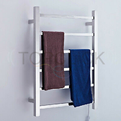 68*62*12cm Luxury New Bathroom 6 bar Square Heated towel rails Mirror finish