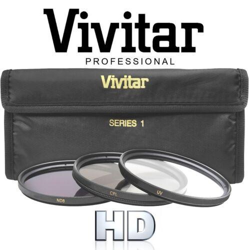HD Vivitar 3-Pcs UV Polarizer /& ND8 Fundamental Filter Set For Nikon D3400 D5600