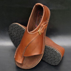 Ladies-PU-Leather-Flat-Sandals-Ladies-Comfy-Slip-On-Shoes-For-Bunion-Corrector